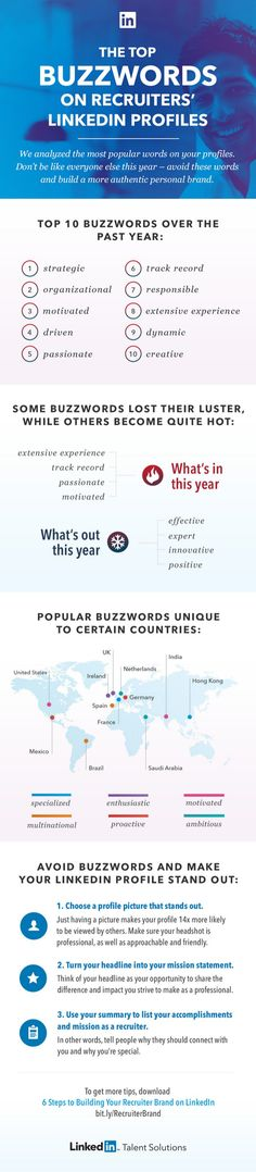 12 best resume resources bme students images on pinterest job the top buzzwords on recruiters linkedin profiles 2014 infographic socialmedia fandeluxe Image collections