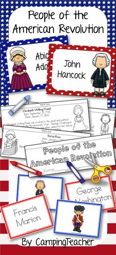 People of the American Revolution. Posters, matching center cards and flip book.