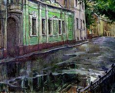 Художник Владимир Качанов - Улочки Московские (22 работ)