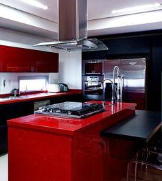 foto cozinha de apartamento decorado por Nelson Alexandrino