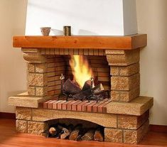 Fireplaces and fireplace mantels are fast becoming a core feature in homes across the world as they add a real feature point to any formal or indeed casual living area. Fireplace Bookshelves, Fireplace Mantle, Fireplace Design, Stove Accessories, Cute Christmas Wallpaper, Rustic Fireplaces, My Dream Home, Rustic Decor, Architecture Design