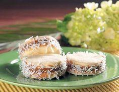 Alfajores de maicena con coco rallado - receta