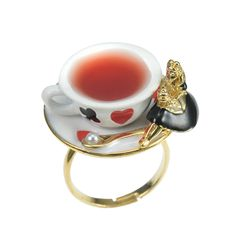 Tea cup Ring Alice from Disney Store Japan~