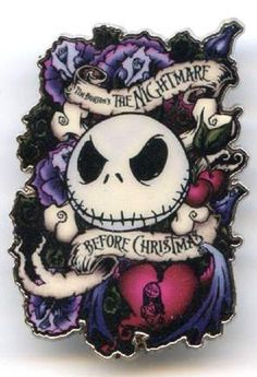 Disney Nightmare Before Christmas Jack & Sally Skellington Disneyland Paris pin