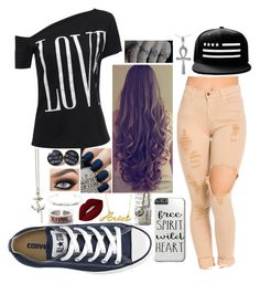^~^ by little-fangirling on Polyvore featuring polyvore fashion style Converse Kasun Rune NYC Belk & Co. Tressa Topshop OPI clothing