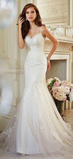 Most popular bride dresses 2015 MGW15.26 vestidos de noiva com caldas lace mermaid bohemian style stella york wedding dresses-in Wedding Dresses from Weddings & Events on Aliexpress.com | Alibaba Group