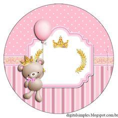 Como havia prometido, aqui está o Kit da Ursinha Princesa, ele pode ser usado em festas de aniversário, chá de bebê, chá de Bebê reve...