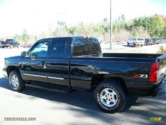 2003 Silverado 1500 Z71 Extended Cab 4x4 - Black / Dark Charcoal photo #1