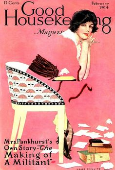 Good Housekeeping Magazine (February 1914) by Coles Phillips