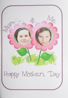 Mommy & Me Mother's Day Craft.  we actually got valentine cards like this in school photos when I was a kid
