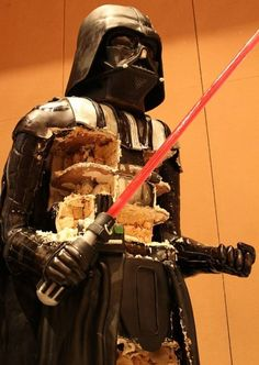 Dark Vador cake human size
