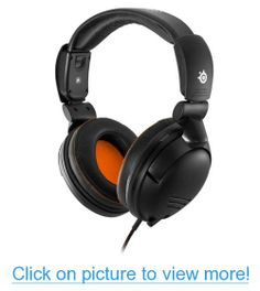 SteelSeries Professional Gaming Headset - assemble/dismantle into 3 parts for transport - custom-engineered soundscape - ear cushions with noise reduction - inline audio and volume controls - retractable microphone - Windows, MAC, table Tablet Phone, Gaming Headset, Cool Things To Buy, Stuff To Buy, Headphones, Entertaining, Games, Ebay, Accessories