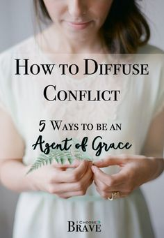 Conflict is unavoidable. We find conflict at work, conflict in our marriages, conflict amongst friends even. But how do find resolution? There are simple ways we can hep diffuse conflict from the get go and bravely offer grace. Christian Marriage, Christian Women, Christian Faith, Christian Living, Marriage Relationship, Marriage Advice, Happy Marriage, Dealing With Difficult People, Conflict Resolution
