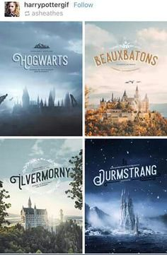 Ilvermorny looks like something from Narnia, Beauxbatons looks like  somethiing out of Lord Of The Rings or Game Of Thrones, Durmstrang is fucking Elsa's castle in Frozen, and Hogwarts is just plain depressing. Wow.