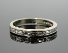 Vintage Channel Set Diamond Band Baguette Rectangle by MSJewelers, $1165.00