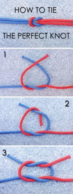 We know that tying a secure knot is an important survival skill. Learn how to tie a traditional square knot, a.k.a. reef knot. How-to shown here: http://www.ehow.com/ehow-outdoors/blog/how-to-tie-the-perfect-knot//?utm_source=pinterest&utm_medium=fanpage&utm_content=blog