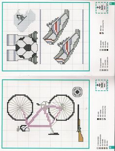 Gallery.ru / Фото #11 - 19 - logopedd Cross Stitch Games, Cross Stitch Charts, Cross Stitch Patterns, Cross Stitching, Cross Stitch Embroidery, Mom And Dad, Bullet Journal, Bike, Canvas