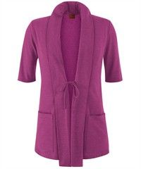Barco NrG Scrubs STRETCH Waterfall Collared Front Knit Cardigan, Style #  B3418 #scrubs, #fashion, #wildheather, #nurses, #uniformadvantage, #pantone2014radiantorchid, #barconrgscrubs