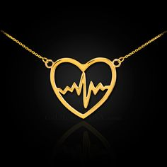 Brilliant Bijou 14k Yellow Gold Polished Satin and D//C Heart 18in Necklace 18 inches