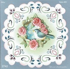 Iris Folding, Stitching, Decorative Plates, Cards, Home Decor, Costura, Decoration Home, Room Decor, Stitch