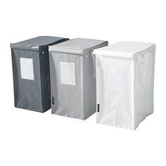 DIMPA Väska för källsortering IKEA Det blir enklare att sortera rätt om du sätter en bild i plastfickan på sidan.