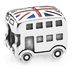 Pandora Charm - Sterling Silver London Bus ($45) ❤ liked on Polyvore