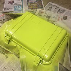 Peli case painted lime green by Projects To Try, Lime, Fans, Green, Ideas, Limes, Thoughts, Key Lime