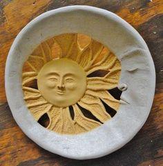 Carved gourd, 'Sun & Moon' for Mary's birthday.