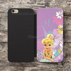 Tinkerbell Wallet Case For iPhone 6S Plus 5S SE 5C 4S case, Samsung Galaxy S3 S4 S5 S6 Edge S7 Edge Note 3 4 5 Cases