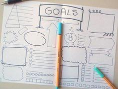 goals bullet journal savings printable planner journaling