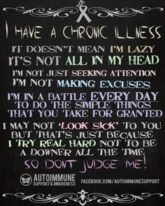 Please don't judge, you wouldn't want to feel like I do every second of each day and night