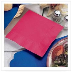 Red Beverage Napkin 1 Ply 1/4 Fold/Case of 1000