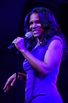 Audra McDonald, five-time Tony Award winner and new host of LIVE FROM LINCOLN CENTER, serenaded the audience at the PBS TCA Press Tour. (photo: Rahoul Ghose/PBS)