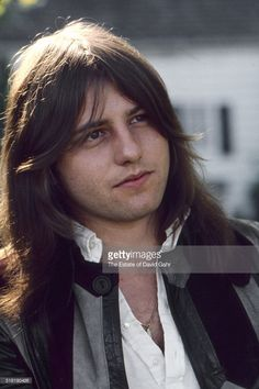 Bassist and composer Greg Lake of progressive rock group Emerson, Lake, and Palmer poses for a portrait in August 1971 in Danbury, Connecticut.