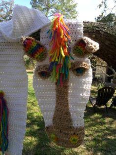Horse scarf white, crochet horse scarf, Horsey Scarf, rainbow, equestrian, horse, scarf, western wear, cowboy, cowgirl
