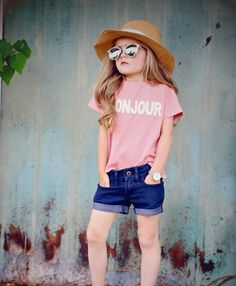 7bfc49f5f2 Kids graphic tees are perfect for summer! Accessorize with sunglasses and a  hat to complete your trendy kids outfit.