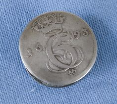 DigitaltMuseum - Knapp Coins, Personalized Items, Button, Coining, Rooms, Buttons, Knot