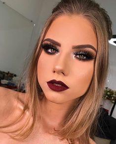 30 Pretty Christmas Makeup Ideas To Make You Look Hot Prom Makeup, Lip Makeup, Wedding Makeup, Beauty Makeup, Makeup Blog, Makeup Inspo, Makeup Inspiration, Make Up Tutorials, Professionelles Make Up