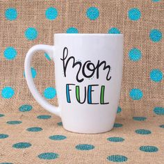 Funny Coffee Mug Mom Fuel Coffee Mug Mother's Day Gift Mom Coffee Mug... ($16) ❤ liked on Polyvore featuring home, kitchen & dining, drinkware, drink & barware, home & living, mugs, silver, personalize mugs, mother mugs and mothers day mugs