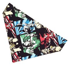Marvel comic books over the collar dog / cat by ruffthreadsAZ