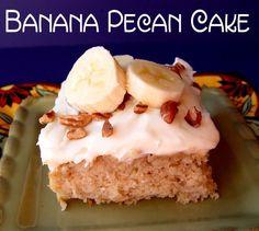 Banana Pecan Cake    http://jamiecooksitup.net/2012/02/banana-pecan-cake/