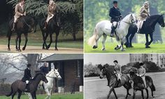 The Queen ... approaching 90 years old ... rides out on her Fell pony in Windsor Great Park #DailyMail
