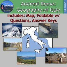 Ancient Rome: Geography of Italy is one lesson from my larger unit Ancient Rome Interactive Notebook. This basic map of Italy will have your students learning the major city-states of Ancient Italy, along with the rivers, mountains, islands, and seas that surround it.
