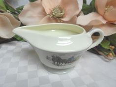 American Limoges, China Dinnerware New Yorker Currier & Ives Gray Creamer