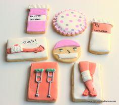 Get well soon cookies - knee surgery