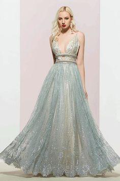 Shiny Spaghetti Straps A-Line Evening Dress vening Dress 9f216eb4d197