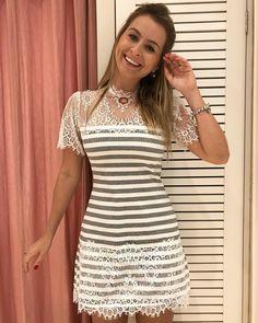 Eita dominguinho delicia! Como eu amo domingo! esse vestidinho é demais! Canelado com renda chantilly 199,90 tamanho unico! ✨ compre pelo 17 99662 7404 #vestido #vestidocanelado #rendachantilly