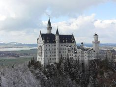 Neuschwanstein Castle, Germany. Rumor is Walt Disney used this as the inspiration to the Disney castle