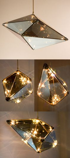 Maxhedron - A study in material transformation through light and reflection.     http://www.becbrittain.com/maxhedron.php