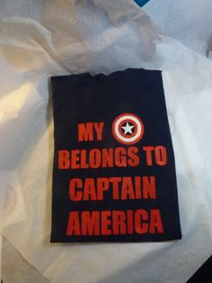 My heart belongs to Captain America babydoll. $25.00, via Etsy. This shirt was made for me
